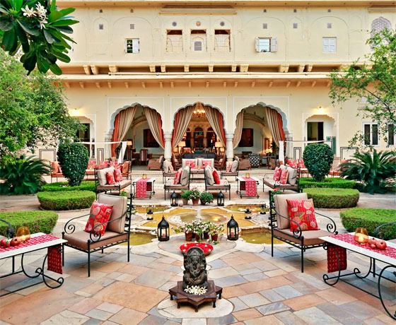 The most popular Heritage Hotel in Jaipur, Samode Haveli