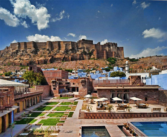 Best fort view in Jodhpur as seen from Raas Haveli, Jodhpur