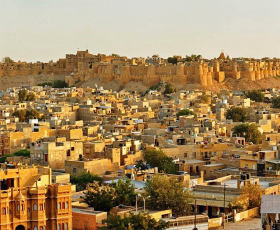 Breath-taking view of the Golden City, Jaisalmer