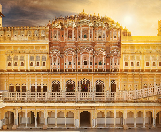 Behind the iconic Hawa Mahal aka 'The Wind Palace', Jaipur